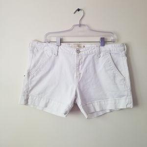 Levi's shorts white denim sz 16
